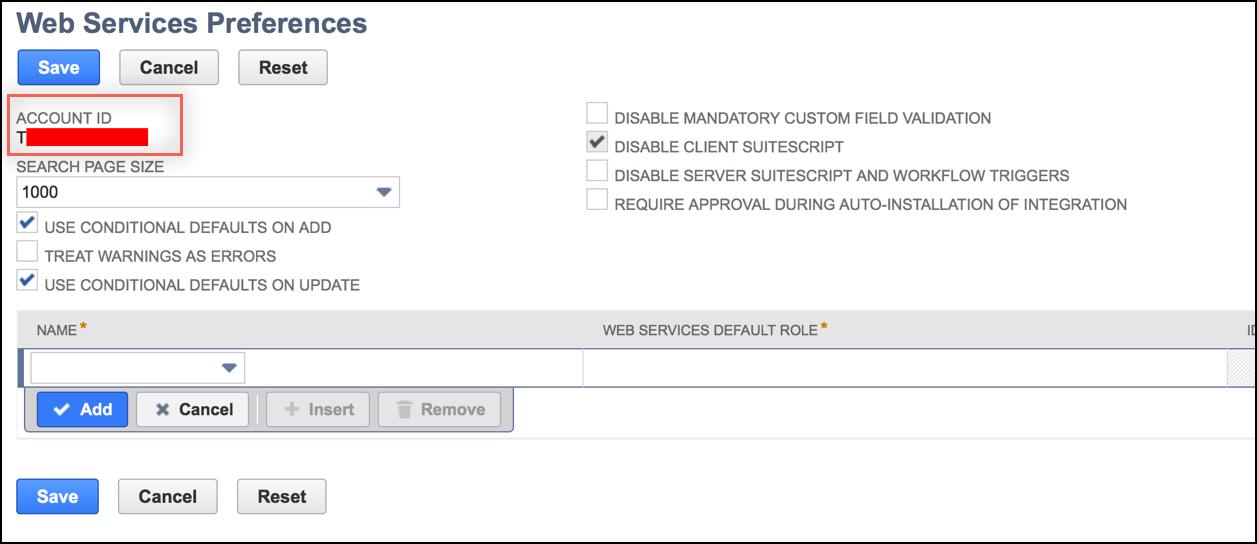 NetSuite Provisioning