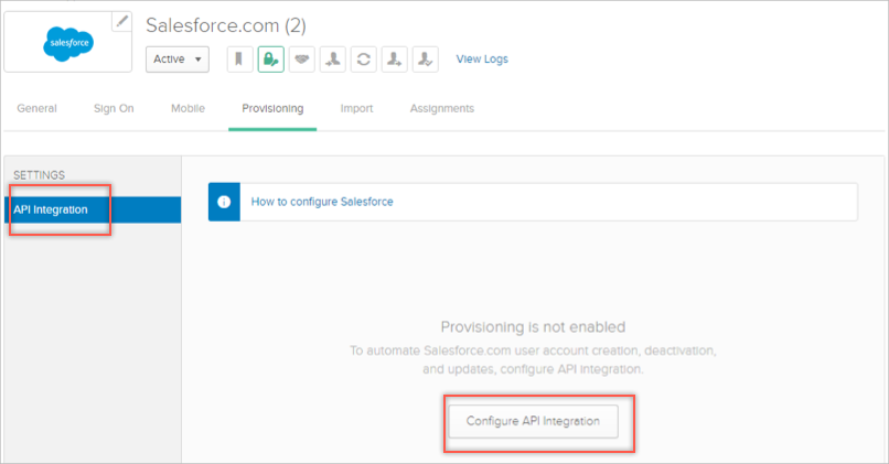 Salesforce Provisioning
