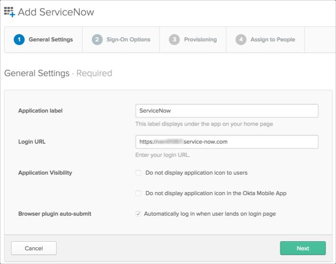 ServiceNow Provisioning