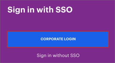 Click CORPORATE Login